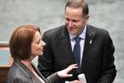 Australian Prime Minister Julia Gillard and New Zealand Prime Minister John Key. Photo / NZPA