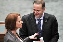 Australian Prime Minister Julia Gillard and New Zealand Prime Minister John Key. Photo / NZPA