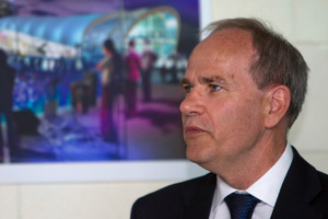 Auckland Mayor Len Brown says the decision to build the Cloud came after a discussion he had with Prime Minister John Key. Photo / NZPA