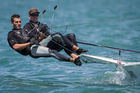 Peter Burling and Blair Tuke will team up on New Zealand's entry at September's Youth America's Cup. Photo / Gareth Cooke