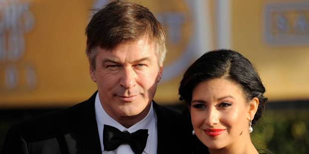 Alec Baldwin and Hilaria Thomas at the Screen Actors Guild awards. Photo/AP