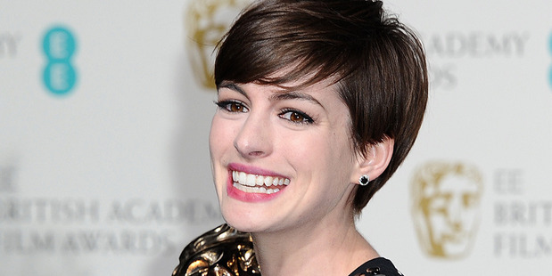 Anne Hathaway with her Bafta for best supporting actress. Photo/AP