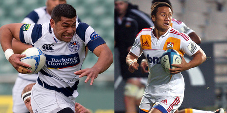 Charles Piutau has lively skills while Tim Nanai-Williams uses his speed and agility. Photo / Sarah Ivey and APN