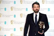 Ben Affleck with his Bafta for best film. Photo/AP
