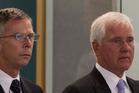 Paul Cropp and Robert Whale in court yesterday. Photo / Brett Phibbs