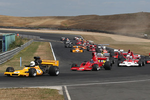 F5000 cars race during the Denny Hulme festival at Hampton Downs last month. Photo / Supplied