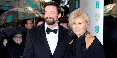 Hugh Jackman and his wife Deborra-Lee Furness. Photo/AP
