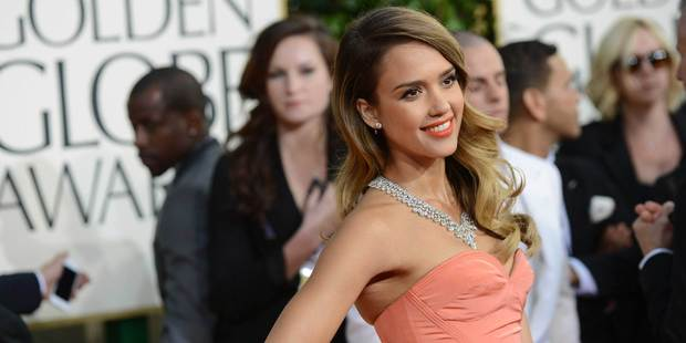 Jessica Alba at the Golden Globe Awards. Photo/AP