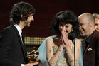 Kimbra and Gotye accepting their award for record of the year. Photo/AP