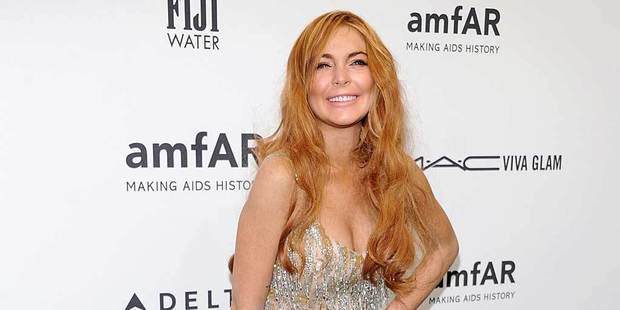 Lindsay Lohan attends amfAR's New York gala. Photo/AP