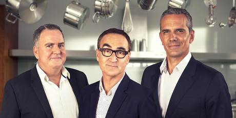 Masterchef judges Simon Gault, Ray McVinnie and Josh Emett. Photo/supplied