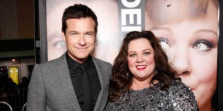 Melissa McCarthy with her Identity Thief co-star Jason Bateman. Photo/AP