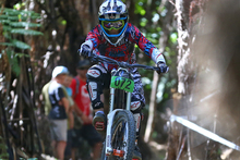 Two time elite world champion Emmeline Ragot of France, in action last weekend, will be a star turn at this weekend's national championships in Rotorua. Photo / Simon Watts.