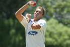 Tim Southee continued his fine return to first class cricket with a five-wicket bag today. Photo / Justin Arthur.