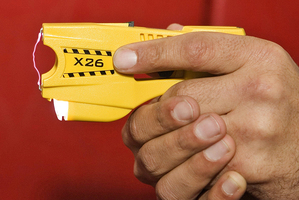 A man was Tasered after 'aggressively' approaching an officer armed with a bayonet and knife. Photo / File