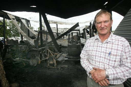 UNDAUNTED: GardenBarn owner Laurie Hatchard is determined to continue vital production work in the wake of a fire.