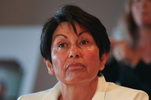 Education Minister Hekia Parata announces plans for school closures and mergers in Christchurch.  Photo / Getty