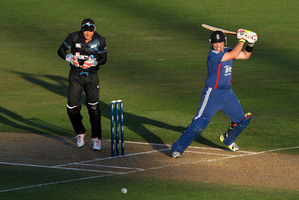 England's Ian Bell bats during their winning ODI against the Black Caps. Photo / Getty Images