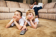 Watching television has been linked to bad behaviour by University of Otago researchers. Photo / Thinkstock