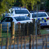 Police attend the scene where a one-year-old boy died after being hit by a car in a driveway at Kaipara Flats. Photo / NZ Herald