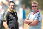 Mark Hammett is in his third campaign with the Hurricanes; John Kirwan is in his first year, with the Blues. Photo / Getty Images, Greg Bowker
