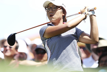  Lydia Ko of New Zealand tee's of the 1st tee during day four of the ISPS Handa Australian Open. Photo / Getty Images.