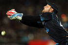 Brendon McCullum of New Zealand misses a catch off the batting of Joe Root of England. Photo / Getty Images.