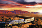 The Indian Pacific train passes through the Flinders Ranges on its journey from Sydney to Perth. Supplied