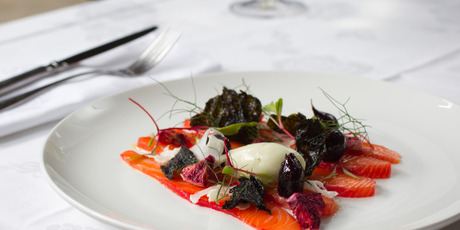The Gravlax salmon dish from Tribeca in Parnell. Photo / Greg Bowker