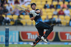 Hamish Rutherford intends to rein in his aggressive T20 style for the one-dayers against England.  Photo / Getty Images