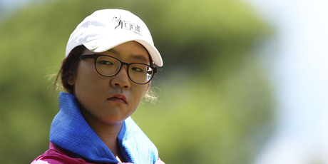 A puzzled Lydia Ko tries to figure out where she went wrong at Royal Canberra. Photo / Getty Images