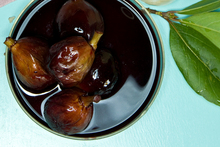 Figs poached in red wine. Photo / Michael Craig