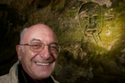 Jean Clottes is impressed with the 'powerful' cave carvings. Photo / Alan Gibson