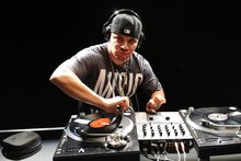 Turntablist Mix Master Mike, aka Michael Schwartz, is a special guest at the Hauraki party to honour Kevin Black.