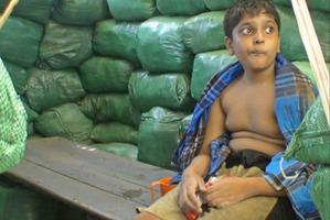 Balachandran Prabhakaran a few hours before his death in 2009. Photo / Supplied
