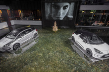 Sime Darby floated these Citroen DS3 and DS5 models in the water feature in the Sofitel Hotel at Auckland's Viaduct Basin. Photo /Supplied