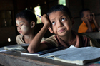 Up to 90 per cent of children attend primary school in Burma, but the majority drop out. Photo /Getty Images
