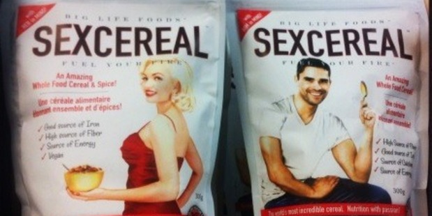 This Canadian cereal makes claims about sexual health - supporting hormonal balance and desire for women and in men it helps testosterone production and energy levels - but really we know that it's all just marketing and sex sells.