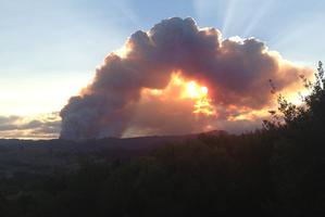 Dome Valley fire. Photo / Cheri Wright