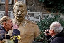 A statue of Soviet dictator Joseph Stalin in Georgia. Photo / AP