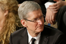 Who'd want to be Apple CEO Tim Cook? Photo / AP 
