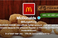 Burger King's Twitter account after it was apparently hacked. Photo / AP 