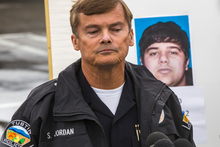 Tustin Police Chief Scott Jordan takes questions about the gunman, Ali Syed, a suspect in a series of shootings during a news conference in Tustin, California. Photo / AP