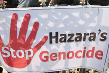 Afghan ethnic Hazara's are on a hunger strike in protest in Kabul, Afghanistan. Photo / AP