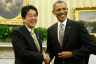 President Barack Obama and Japan's new PM have signalled solidarity against North Korea.Photo / AP