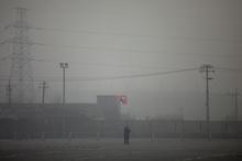 A hazy day in Beijing. Photo / AP