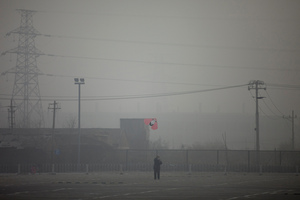 A hazy day in Beijing. Photo / AP