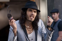 Russell Brand and One Direction's Harry Styles. Photos / AP