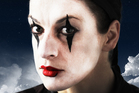 Soprano Madeleine Pierard is totally transformed in her clown make-up as Pierrot. Photo / Supplied