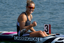 Gold medal kayaker Lisa Carrington and the rest of the London Olympic team pushed Sky TV programming costs up by 11pc, but profits for the last six months of 2012 were still up 9 per cent. Photo / NZ Herald